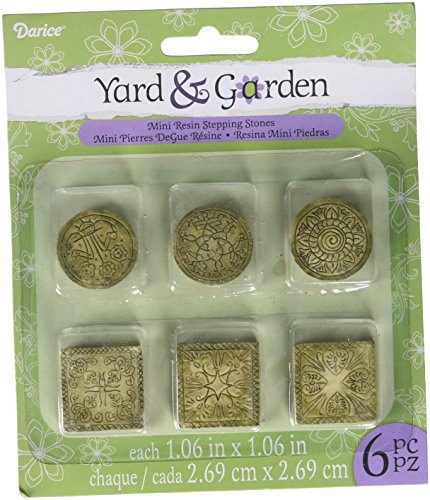 Darice Yard and Garden Miniature Celtic Stepping Stones, 6 Piece -