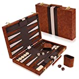 "Best Backgammon Sets - Kangaroo's 14.75"" Faux Leather Vinyl Backgammon Set; Favorite Review"