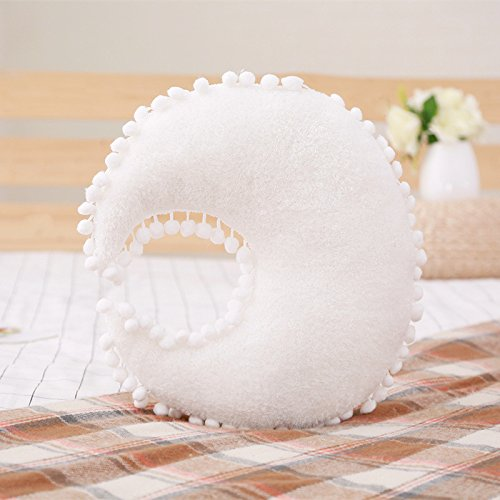 Creative Star Moon and Cloud Plush Pillows Stuffed Toys (white, moon)