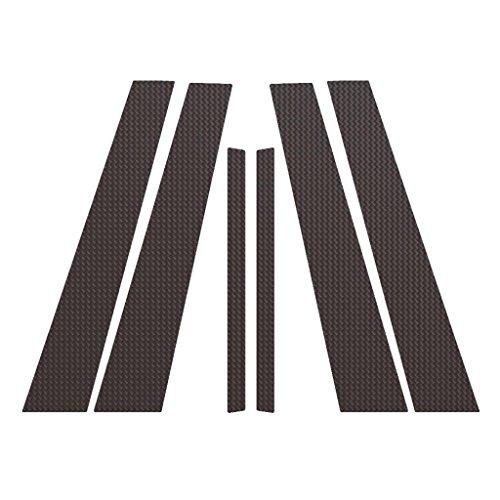 Carbon Fiber Pillar Post Trim Cover fits: 2006-2011 BMW 3-Series 4 Door Sedan - Ferreus Industries - PIL-058-CF (B Fiber Pillar Carbon Covers)