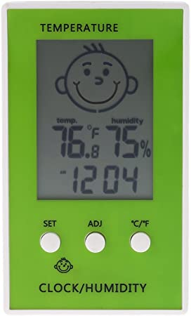 Indoor Hygrometer Thermometer w//Comfort Indicator for Home Car Babyroom Pink
