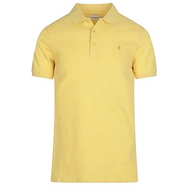58ca609bcce Farah Vintage Men's Lester Checkered Long Sleeve Polo Shirt: Amazon ...