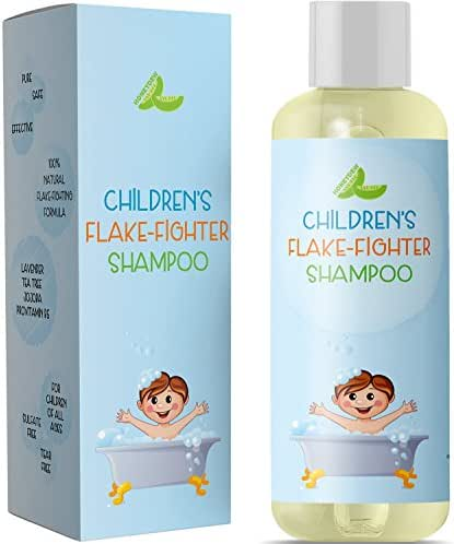 Best Anti Dandruff Shampoo For Kids – All-Natural Gentle Tear Free Kid's Shampoo for Dandruff – Itchy Scalp Treatment for Children with Tea Tree Lavender & Jojoba- Sulfate Free for All Ages