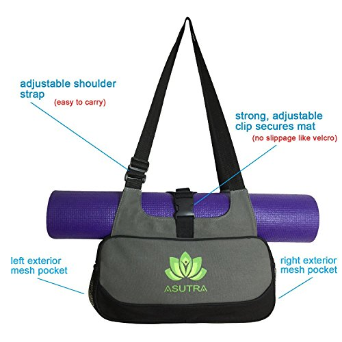 COMPACT YOGA MAT BAG / Stylish, Efficient & Lightweight / Perfect For Yogis Just Needing A Durable Eco Friendly Bag To Carry The Essentials