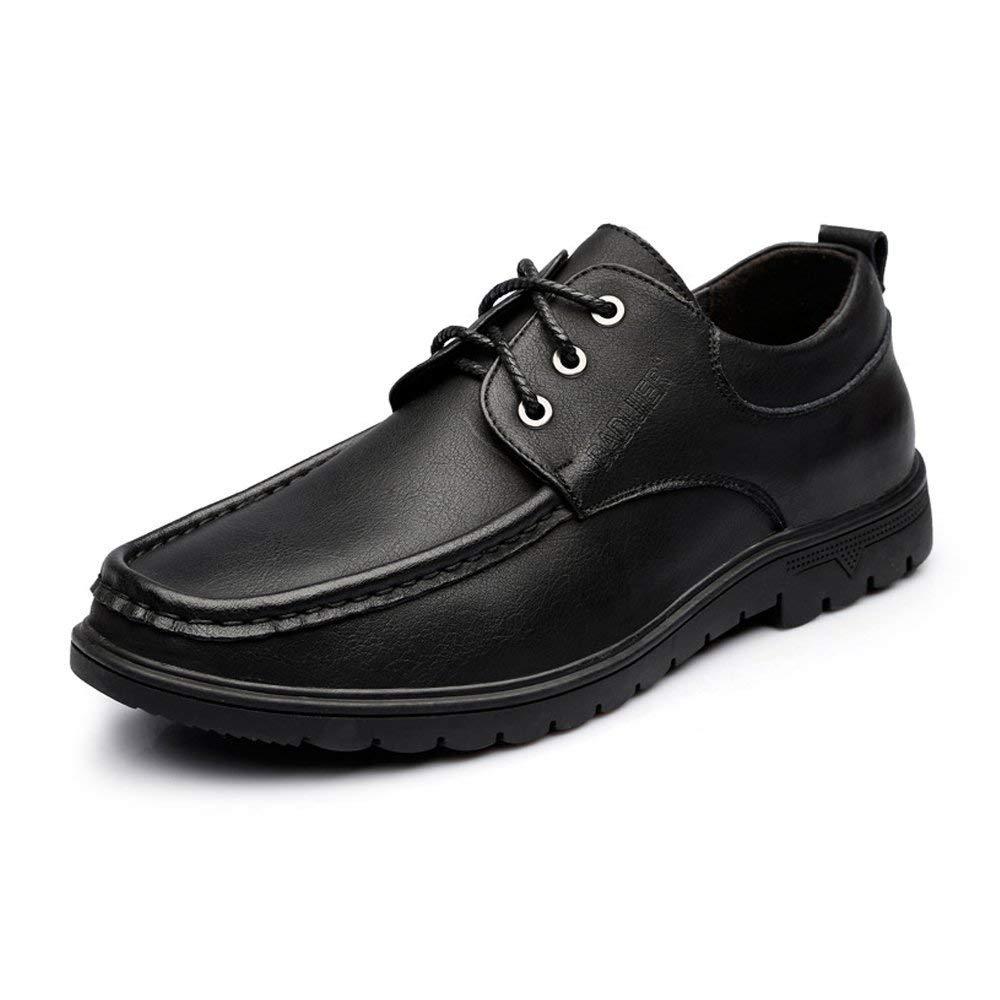 2018 Herren Casual Oxford Schuhe schnüren Sich Echtes Leder Classics Business Loafers für Herren (Farbe   Braun, Größe   40 EU) (Farbe   Schwarz, Größe   42 EU)