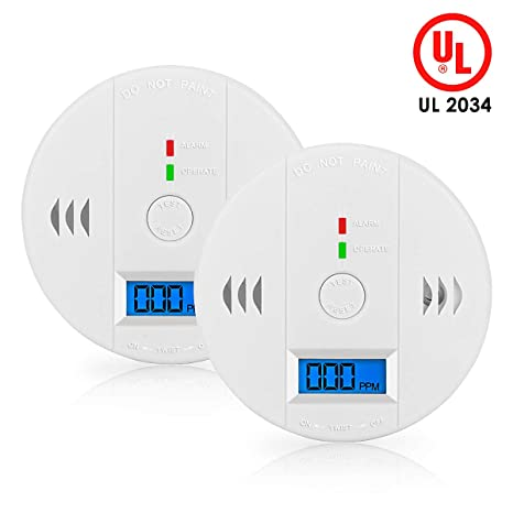 Fire Protection Co Gas Sensor Alarm Accessory Lcd Digital Screen Carbon Monoxide Alarm Detector For Home Security Automatic Alarm