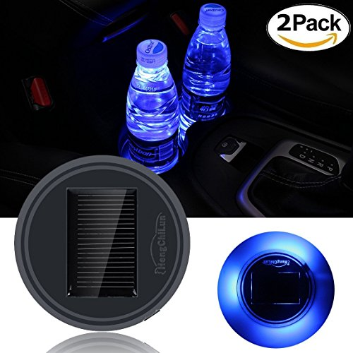 Netboat 2 Pieces Universal Car Styling Solar Power Energy Led Car Interior Decoration Light Cup