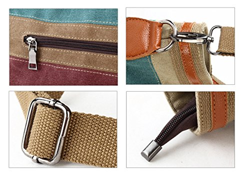 Bolso La De Bolsa Dama Simple Moda De Nueva Banda Color Cosido Lona La GWQGZ wqpPgRx
