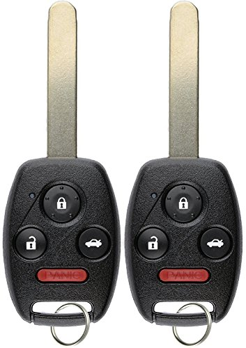 KeylessOption Keyless Entry Remote Control Uncut Car Ignition Chipped Key Fob Replacement for Honda Civic N5F-S0084A (Pack of 2)