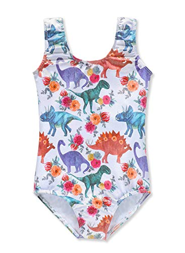 Gymnastics leotards for toddler girls dinosaur 2t 3t 2-3 toddlers baby girls colorful print]()
