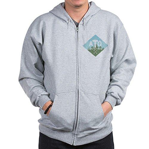 CafePress Alpha Tau Omega Mountains Diamond Blue Zip Hoodie, Classic Hooded Sweatshirt with Metal Zipper