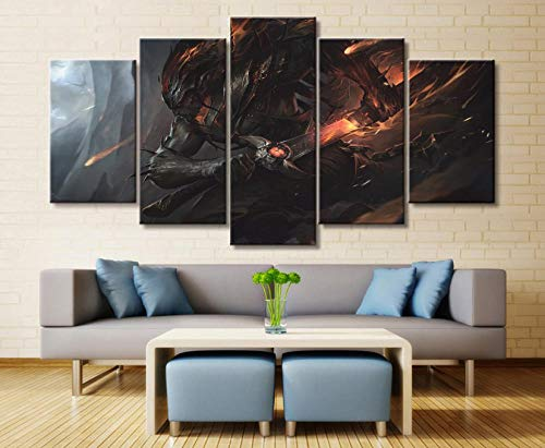 Legends Furniture Contemporary Light - sansiwu k 5 Panel League of Legends Yasuo Game Canvas Printed Painting for Living Wall Art Home Decor Hd Picture Artwork Modern Poster