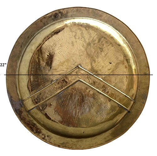 16 gauge Medieval 300 Spartan Shield with antique finish ABS (Spartan Shield Replica)