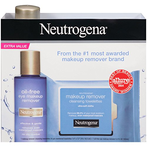 Neutrogena Oil-Free Eye Makeup Remover Liquid & 25 Cleansing
