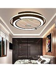 Plafondventilator, led, 45 W, plafondlamp, met verlichting, onzichtbare ventilator, licht, instelbaar, modern, slaapkamer, plafondlamp, dimbaar, woonkamerlamp met afstandsbediening, stille ventilator voor kinderkamer