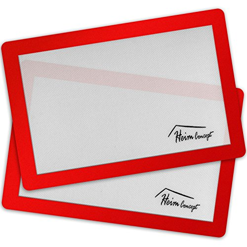 Premium Silicone Baking Mats 2PC Set, Heim Concept Professional Grade Non-Stick And Heat Resistant Liner Cooking Baking Sheet