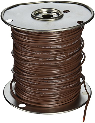 Southwire 64168845 18/3 500-Feet 3 Conductor Thermostat Wire, 18-Gauge Solid Copper Class 2 Power-Limited Circuit Cable, Brown -