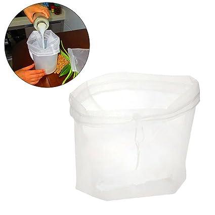 AIYoo-Bolsas de leche para fruta de,2 unidades,bolsas de filtro reutilizables de almendra,bolsas de leche duraderas,colador de bolsas de leche para ...