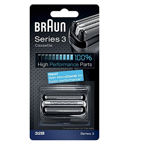 Price comparison product image Braun Series 3 Combi 32b Foil And Cutter Replacement Pack, with SmartFoil Technology Captures Hair Growing In All Directions, and Get Back 100% of Your Shaver's Performance