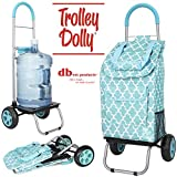 dbest products Trolley Dolly, Moroccan Tile Shopping Grocery Foldable Cart