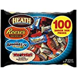 HERSHEY'S Halloween Snack Size Assortment (39.9-Ounce Bag, 100 Pieces)