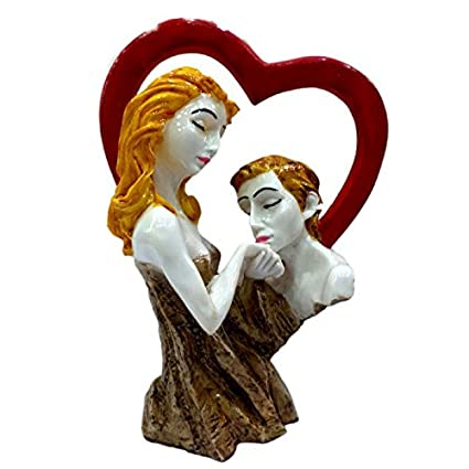 Touch India Valentine Romantic Love Couple With Heart Statue Home Decoration Gift Item Anniversary