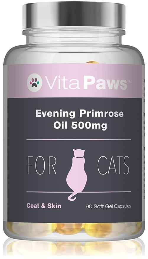VitaPawsTM Aceite de onagra 500mg | 90 Perlas | Puede favorecer la salud hormonal de nuestra mascota | Indicado para gatos: Amazon.es: Salud y cuidado ...