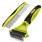 Pecute Grooming Dematting Comb Tool Kit - Double Sided Blade Rake Comb +