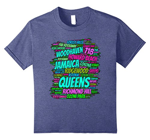 Kids Queens new york t-shirt area code 718 12 Heather - Queens Mall Ny