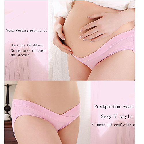 14a48084f4693 5 Pcs Women's Under Bump Cotton Maternity Panties Healthy Underwear, Multi  Pack - Buy Online in Oman. | Apparel Products in Oman - See Prices, ...