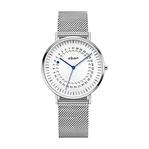 a.b.art FD36-101-6S Women's Fashion Wrist Watch Date Display Watch Silver tone (Mesh bracelet steel-Steel) by a.b.art
