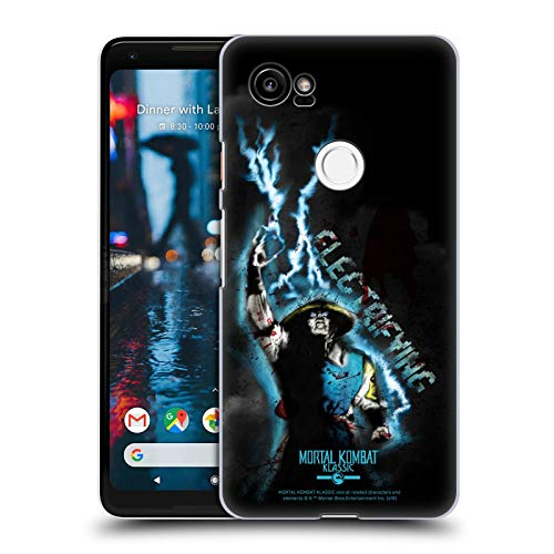 Official Mortal Kombat Klassic Raiden Electrifying Character Art Hard Back Case Compatible for Google Pixel 2 XL