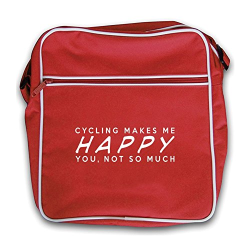 Much Red Cycling Bag Retro Me Black Not Flight So You Happy Makes PYqwrP