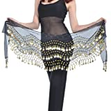 BELLYLADY 158 Gold Coins Belly Dance Hip Scarf