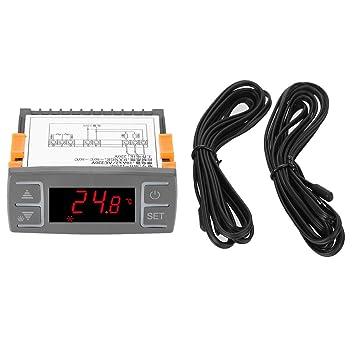 Regulador de temperatura Regulador de calibración de termostato universal MH1210E con sensor NTC AC 220V Termostato