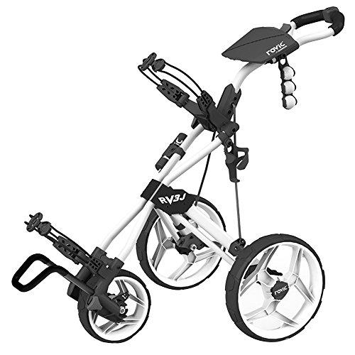 Rovic Rv3J Junior Golf Push Cart - Arctic/White - Junior Push Golf Cart