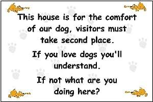 Esta house is para la comodidad de nuestra señal de perro fun a presión 3 mm plástico