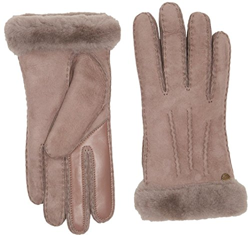 UGG Women's Carter Waterproof Sheepskin Tech Gloves Stormy Grey LG by UGG