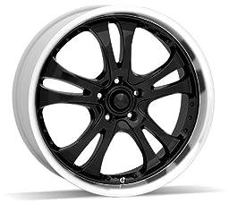 American Racing Casino AR393 Gloss Black Wheel with Machined Lip (17x7.5\
