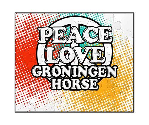 (Makoroni - Peace Love Groningen Horse - Jigsaw Puzzle, 30)