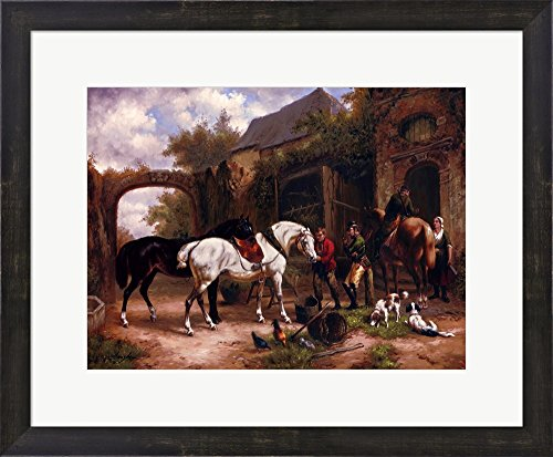 Before The Hunt I by Houston Framed Art Print Wall Picture, Espresso Brown Frame, 23 x 19 inches