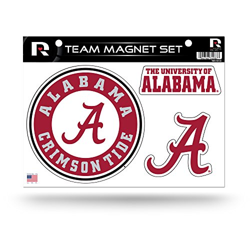 Rico Industries NCAA Alabama Crimson Tide Die Cut Team Magnet Set Sheet