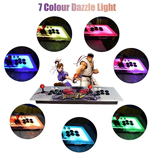 ElementDigital Arcade Game Console 1080P 3D & 2D Games 2350 in 1 Pandora's Box Metal Box with Dream Color LED Lights 2 Players Arcade Machine with Arcade Joystick Support Expand 6000+ Games by ElementDigital (Image #1)