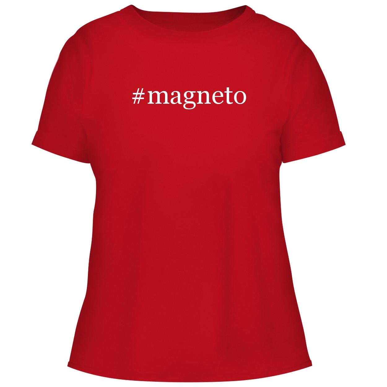 BH Cool Designs #Magneto - Cute Women's Graphic Tee, Red, X-Large