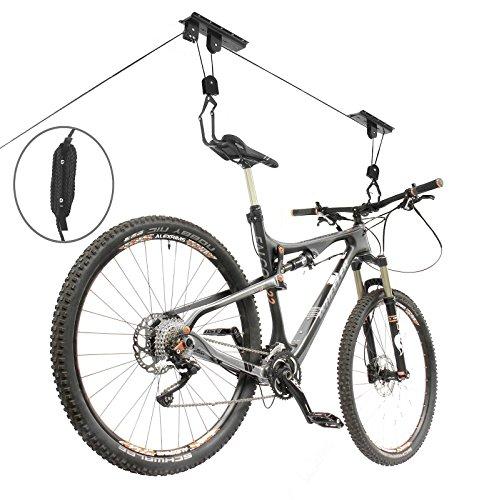 Tabla de surf kayak de montacargas para bicicleta Rack bicicleta ascensor techo ganchos: Amazon.es: Deportes y aire libre