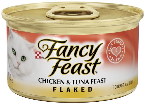 Fancy Feast Gourmet Cat Food, Flaked Chicken and Tuna Feast, Flaked 3-Ounce Cans (Pack of 24), My Pet Supplies