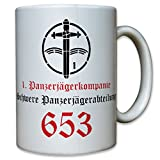 1 Armored Infantry Company Heavy tank division 653 Panzer VI hunting tiger Company military association - Coffee Cup Mug