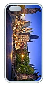 cases pretty charles bridge prague TPU White Case for iphone 5/5S
