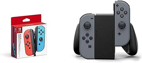 Nintendo - Mando Joycon Set, Color Azul Y Rojo (Nintendo Switch) & Switch Joy-Con Comfort Grip, Negro: Amazon.es: Videojuegos