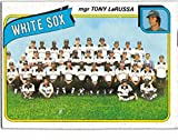 1980 Topps Chicago White Sox Team Set with Chet Lemon & Tony LaRussa MGR - 28 Cards